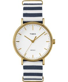 Weekender Fairfield | Timex UK | Wear It Well http://www.thesterlingsilver.com/product/invicta-12551-womens-angel-gold-plated-stainless-steel-champagne-dial-swiss-watch/