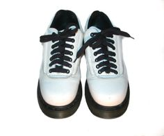 Dr. Martens White Leather Chunky Lace Shoes