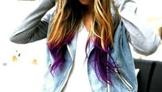 If it wasn't for nursing...I'd be rocking these purple tips
