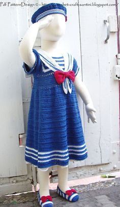 Latest Design from one of my favourite designers  Ravelry: SAILOR DRESS FOR LITTLE MARINE GIRL pattern by Ingunn Santini