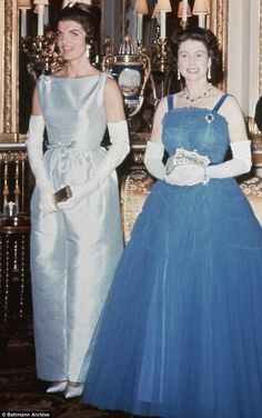 Despite the smiles, there was an edginess between the two women before the Queen was won over by Mrs Kennedy's charm. But they were never friends