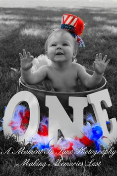 Fourth of July First Birthday Photos. Done by A Moment In Time Photography.