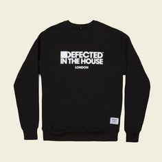 Defected In The House 'London' Logo Mens Black Sweatshirt