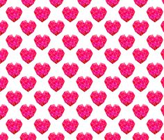 geo hearts crystal geometric valentines heart fabric by charlottewinter on Spoonflower - custom fabric