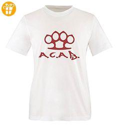 Comedy Shirts - A.C.A.B. - SCHLAGRING1 - Jungen T-Shirt - Weiss / Rot Gr. 152-164 - Shirts mit spruch (*Partner-Link)