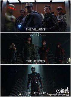 He tries lol #Arrow #TheFlash
