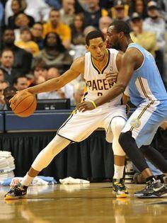 Indiana's Danny Granger works towards the basket against