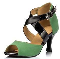 2834cadf2945f Kevin Fashion Womens Ankle Wrap Green Satin Salsa Ballroom Samba Tango Latin  Dance Shoes 10 M US    More info could be found at the image url.