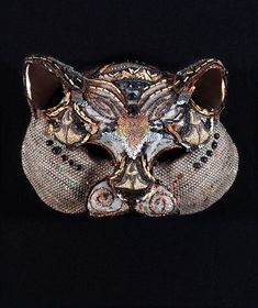 Cat mask by Leonor Fini Max Ernst, Francis Bacon, Magritte, Art Costume, Costumes, Cat Mask, Cool Masks, Ceramic Birds, Cat Decor