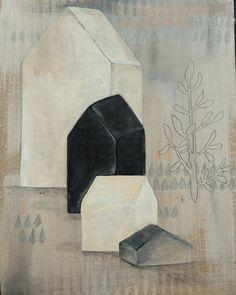 Art:peinture originale sur carton brut.
