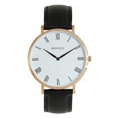 Die Farbe Schwarz wirkt in Kombination mit Weiß und Gold gar nicht mehr so hart und edgy. Suchst Du eine edle Uhr, die zu Deinen Business-Outfits passt, aber auch Deinen Freizeit-Look stilvoll unterstreicht? Dann triffst Du mit der Grand Bellevue die richtige Wahl. Die Armbanduhr steht für klassisches Understatement. Wenn das zu Dir und Deinem Lebensstil passt, dann ist das Deine Uhr. Watches, Gold, Leather, Accessories, Outfits, Fashion, Lifestyle, Bracelet Watch, Color Black