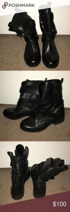 Gianni Bini Combat Boots NEVER WORN. They are too small for me. Great condition. Size 7.5 but fits more like a 7 or even 6.5 with thick socks. Gianni Bini Shoes Combat & Moto Boots