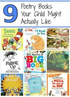 Do you want to get your kids interested in poetry? Here are 9 poetry books your children are likely to enjoy. Poetry Books For Kids, Book Reviews For Kids, Homeschool Books, Preschool Literacy, Up House, Book Themes, Children's Literature, Learn To Read, Book Lists
