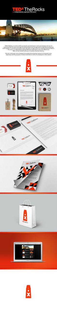 TEDxTheRocks Branding on Behance