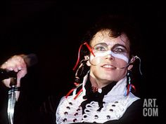 Adam and the Ants Singing Live in Concert, 1981 Photographic Print at Art.co.uk