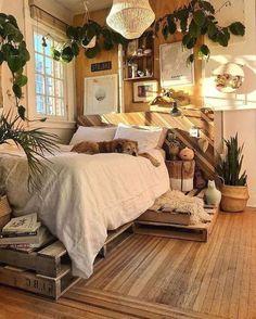 creative ways dream rooms for teens bedrooms small spaces 10 ~ my. creative ways dream rooms for tee. Rustic Bedroom Design, Bohemian Bedroom Decor, Room Decor Bedroom, Modern Bedroom, Bohemian Decorating, Bedroom Bed, Bedroom Ideas, Bed Room, Earthy Bedroom