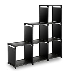 [Toy Storage Organizer] TomCare Cube Storage 6-Cube Shelves Storage Cubes Organizer Closet Organizer Bookcase Cubby Bins Cabinets Storage Shelves for Bedroom Living Room Office, Black -- You can find more details by visiting the image link. (This is an affiliate link)