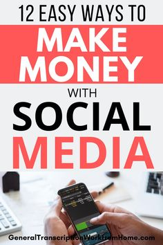 12 Easy Ways to Make Money with Social Media Marketing. Learn How to Make Money Online with Social Media. How to promote product and services on social media for beginners and experts. #SocialMediaMarketing #socialmedia #marketing #makemoney #pinterest #facebook #instagram #youtube #twitter Make Money Blogging, Way To Make Money, Make Money Online, Earning Money, Money Tips, Facebook Marketing, Social Media Marketing, Marketing Strategies, Affiliate Marketing