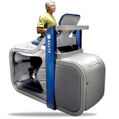 The AlterG Anti-Gravity Treadmill, as it's known, uses technology created at NASA to allow you to walk or run while virtually weightless. And as well as boosting fitness, it is said to help people with conditions from stroke to osteoarthritis. Read news (UK Daily Mail: http://www.dailymail.co.uk/health/article-2577760/How-running-bag-air-gets-stroke-patients-feet.html )