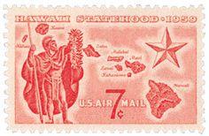 1959 7c Hawaii Statehood Scott C55 Mint F/VF NH