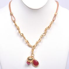Leather Necklace Pomegranate, $69, now featured on Fab.