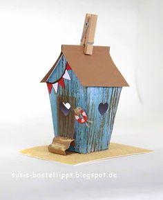"Strandhaus mit Stampin Up! Framelits ""Zu Hause"" | Susi's Basteltipps…"