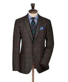Dark Green Harris Tweed Jacket.