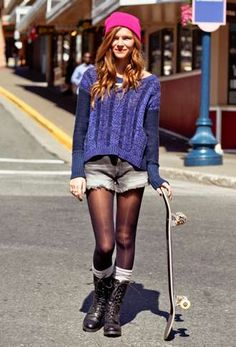 Sweater & shorts