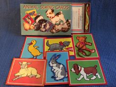 A personal favorite from my Etsy shop https://www.etsy.com/listing/233530429/saml-gabriel-sons-animal-sewing-cards