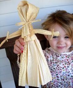 Make a corn husk doll. Great history lesson from pilgrims, too.