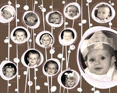 Baby S First Year Photo Collage By Mollyandgordon On Etsy 20 00