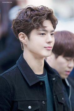 a literal angel : park bo gum : Photo Perm Hair Men, Men Perm, Hair Perms, Bun Hair, Curly Hair, Asian Perm, Asian Hair, Korean Men Hairstyle, Korean Haircut