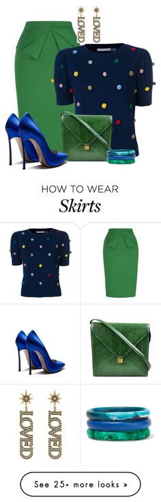 """Untitled #3034"" by jodilambdin on Polyvore featuring Alice + Olivia, Hermès, Gucci and Dinosaur Designs"