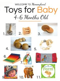 What to look for in Montessori Toys for Babies. Here are several useful toys for Months old babies! Montessori Baby Toys Months Old Montessori Baby Toys, Montessori Activities, Infant Activities, 4 Month Old Baby Activities, Montessori Homeschool, Montessori Classroom, Maria Montessori, Homeschooling, 6 Month Toys