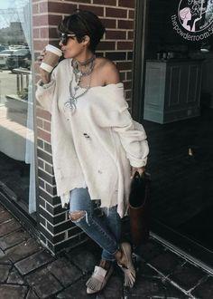 Kyrzayda Rodriguez Fashion 101, Curvy Fashion, Love Fashion, Autumn Fashion, Womens Fashion, Weekend Style, Weekend Wear, Casual Chic, Casual Wear