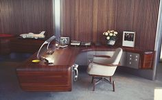 Harley Earl's office at General Motor's Design Center, 1950's