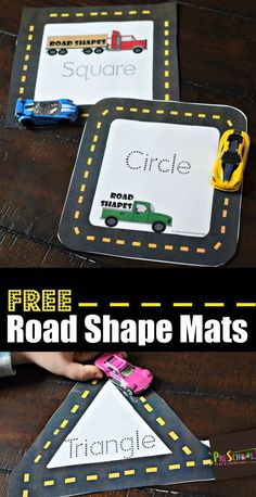FREE Road Shape Mats - this is such a fun, hands on math activity for preschoolers who are working on learning shapes! Kids will love using hot wheels to trace shapes shapes preschool mathactivity 509117932876026654 Toddler Learning Activities, Preschool Lessons, Preschool Classroom, In Kindergarten, Kids Learning, Math Activities For Preschoolers, Shape Activities Kindergarten, Creative Curriculum Preschool, Maths For Toddlers