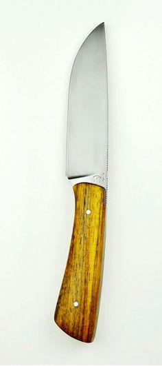 Michel Grini couteaux, Breuschwikersheim, Alsace, France - 100cr6, avec un manche en pheasant (Casse du Siam). Longueur totale: 22,5 cm, avec 11 cm de tranchant.