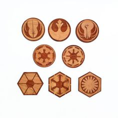 8pc. Laser Cut Star Wars Coasters by Nanogramstore on Etsy