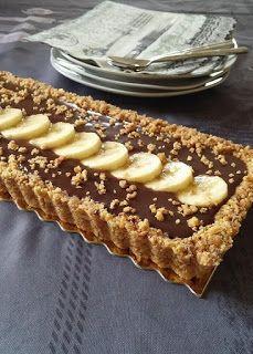☆...☆...☆... ........................... . . Tarte-au-chocolat-et-la-banane