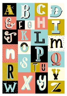 A - Z Type Project by Steph Baxter, via Behance