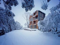 A vacation apartment/hotel at Falls Creek in Victoria, Australia, Huski Apartments by Elenberg Fraser Architecture #architecture