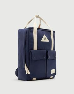 Height x Length x Width 35 x x 13 cm. Backpack Straps, Backpack Purse, Leather Backpack, Leather Wallet, Fashion Backpack, Pull & Bear, Modern Backpack, Trendy Backpacks, Denim Tote Bags