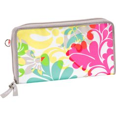 "Coupon Clutch - Here's a style that will actually help you save money! Keep all your coupons handy and easy to find whenever you're in the checkout line. It features five interior coupon pockets and five colored tabs so you can label each pocket. New interior elastic lobster claw holds loyalty cards. Approx. 4.5""H x 8""W x 1""D https://www.mythirtyone.com/shop/productdetail.aspx?prod=4521"