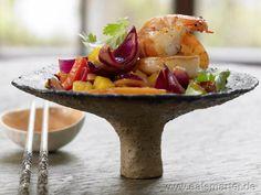 Soo lecker und dabei so einfach gemacht: Garnelen süßsauer - smarter - mit Paprika und Mango. Kalorien: 477 Kcal | Zeit: 30 min. #asia