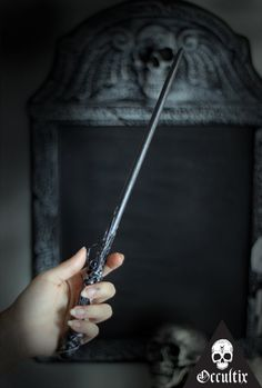 Sargatanas Unique Handmade Wand Black Silver Magic by Occultix