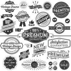Vintage Copyspace Design Elements Royalty Free Stock Vector Art Illustration