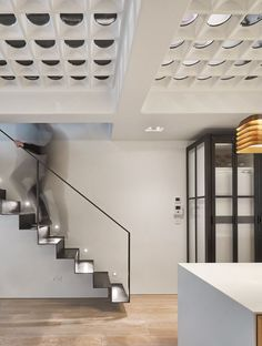 The Perf House Is a Renovated Georgian Terrace House In London by AMA - Design Milk Staircase Railings, Modern Staircase, Stairs, Staircases, Contemporary Architecture, Interior Architecture, Interior Design, Contemporary Houses, Residential Architecture