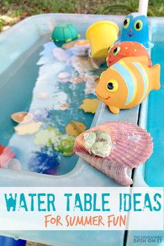 Water Fun for Toddlers and Preschoolers Water Table Ideas for Summer Fun Kids Activities and Crafts, Sensory Activities, Infant Activities, Sensory Play, Sensory Table, Sensory Garden, Sensory Bins, Indoor Activities, Science Activities, Educational Activities