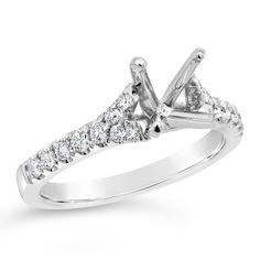 Platinum Expressive Multi Row Ring | Washington Diamond | Falls Church, VA Ring Settings Types, Ring Settings Only, Engagement Ring Settings, Engagement Rings, Jewelry Shop, Jewelry Rings, Falls Church, The Row, Washington